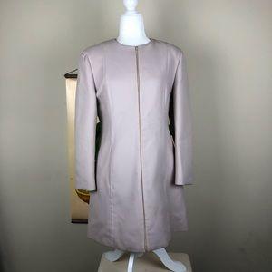 PRADA | Vintage Wool Zip Up Jacket Coat Long Chic